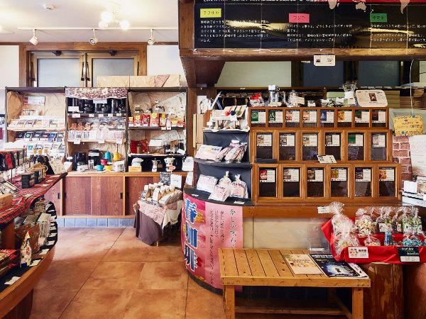 茶葉とコーヒー豆 もりかわ 田辺本店 内観